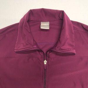NIKE FIT Womens Purple Full Zip Warmup Jacket